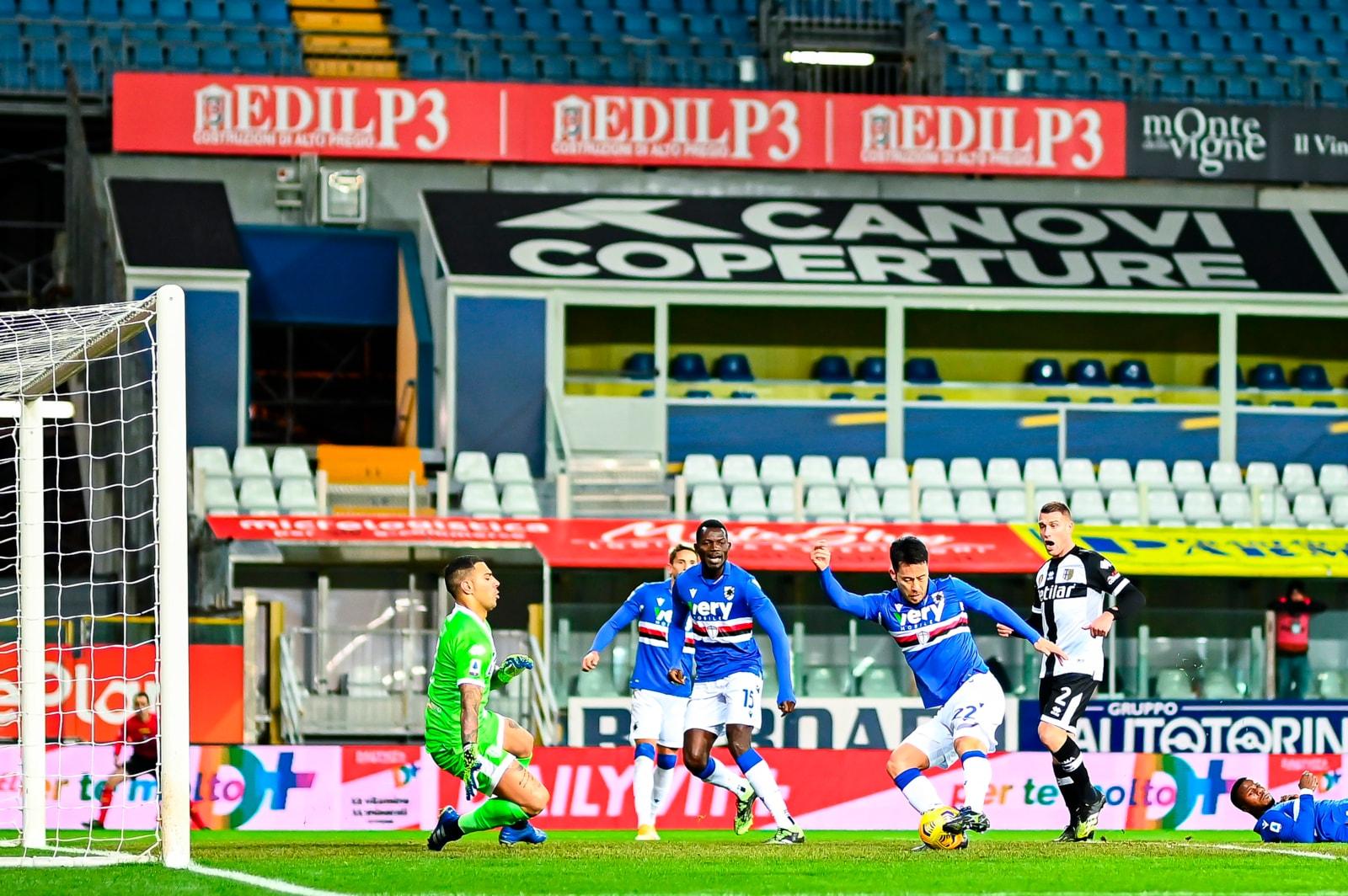 Parma, sfortuna ed errori: Yoshida e Keita fanno sorridere la Sampdoria