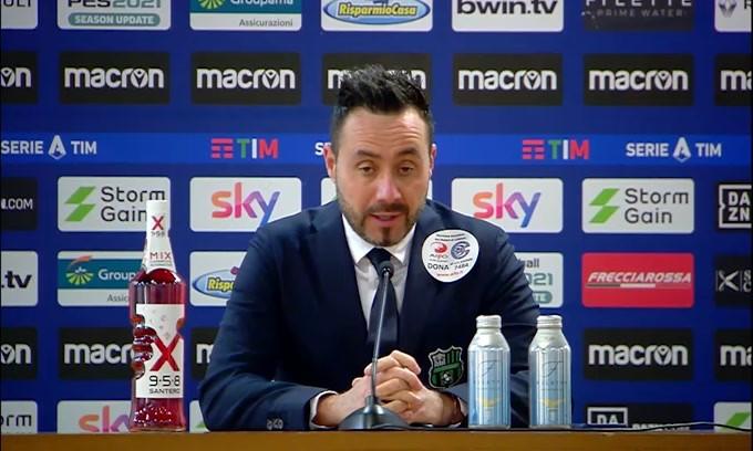 """De Zerbi: """"Abbiamo sfiorato il raddoppio poi è venuta fuori la Lazio"""""""