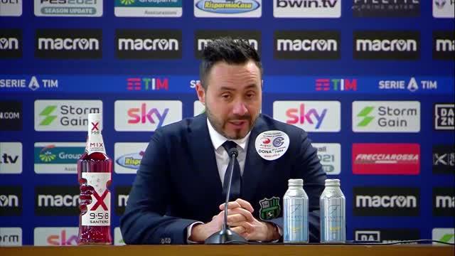 """De Zerbi: """"Girone d'andata chiuso con 30 punti e tanti problemi"""""""