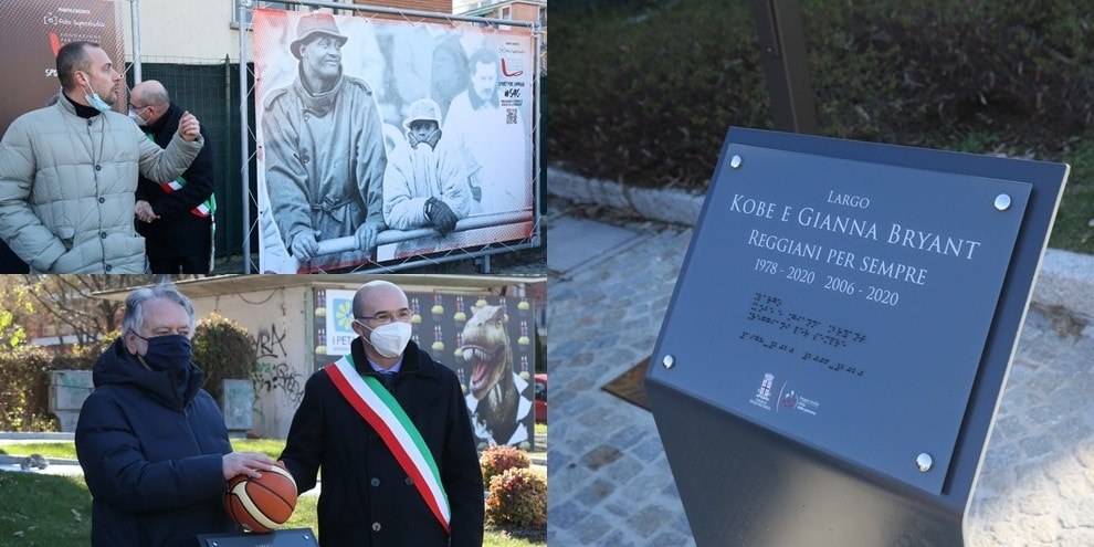 """A Reggio Emilia nasce il """"Largo Kobe e Gianna Bryant. Reggiani per sempre"""""""