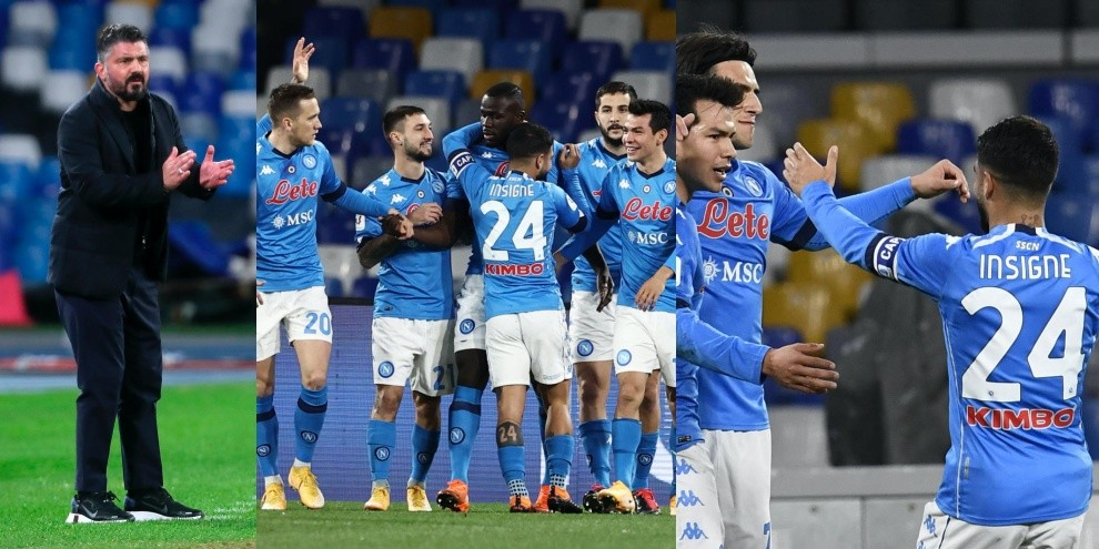 Coppa Italia, Napoli-show per 45 minuti. Spezia eliminato