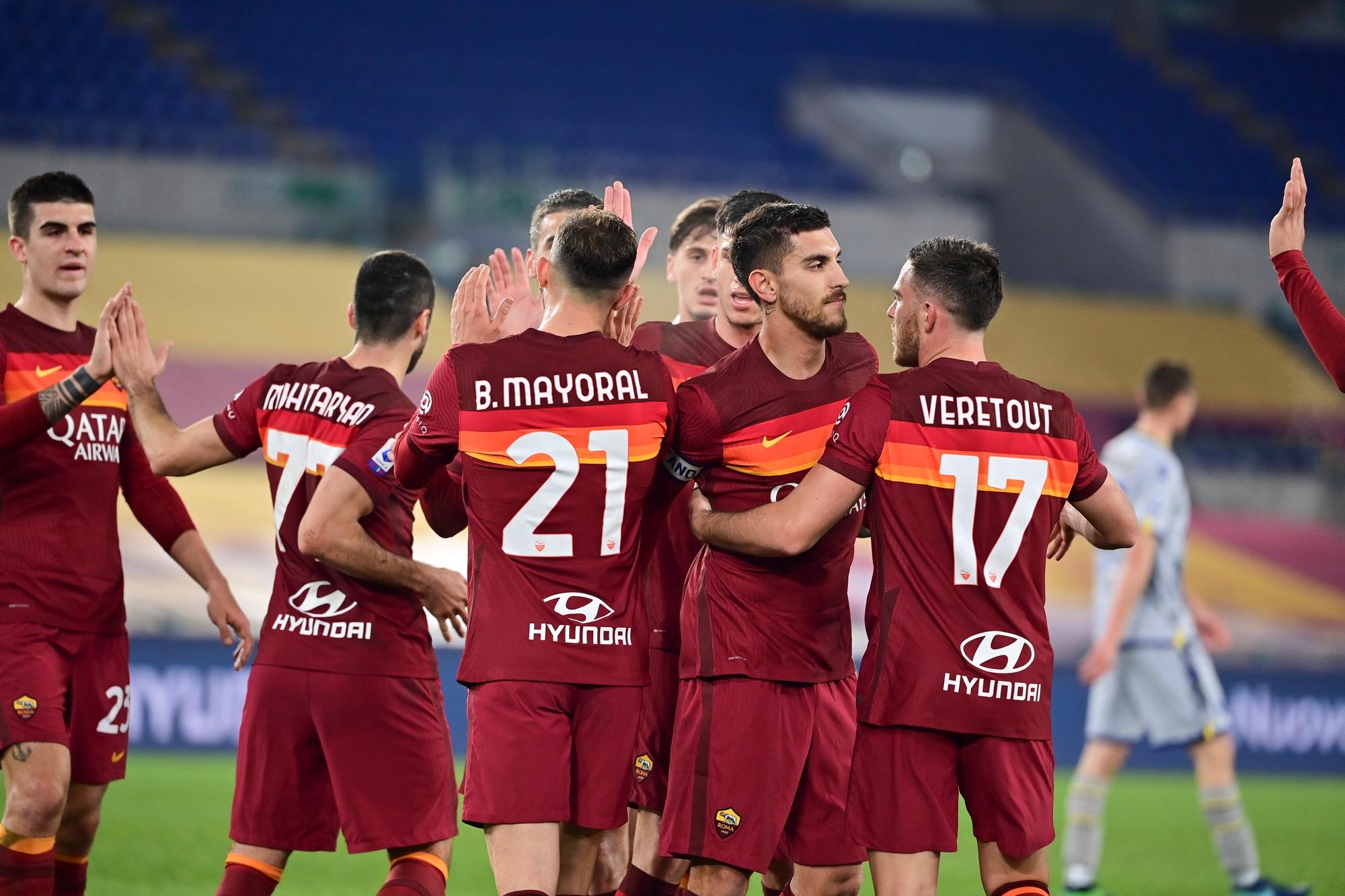 La Roma vince e convince: tris show al Verona