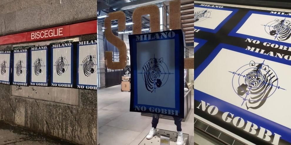 #NoGobbi, Milano tappezzata di poster anti-Juve