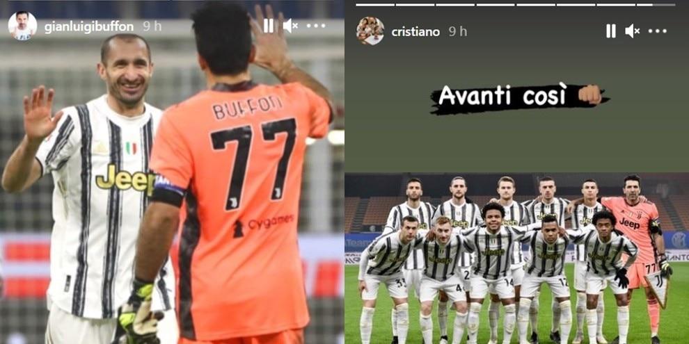 Da Ronaldo e Buffon a Bonucci e Chiellini: è grande festa Juve sui social