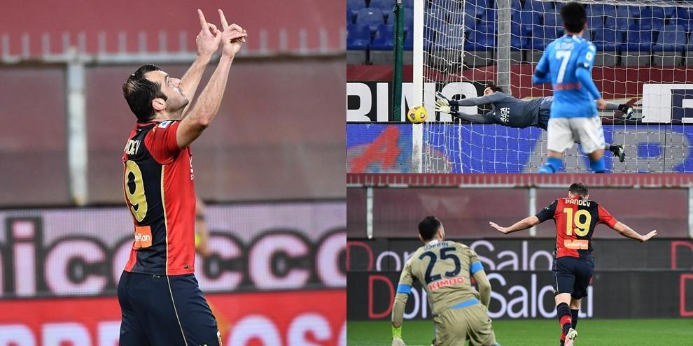 Super Perin e doppio Pandev: il Genoa batte il Napoli 2-1