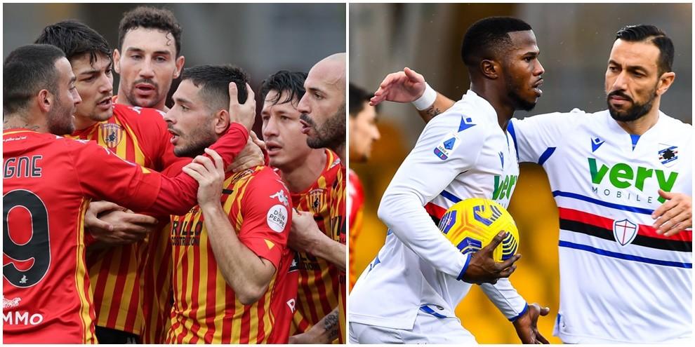 Al Benevento non basta Caprari: la Sampdoria fa 1-1 con Keita
