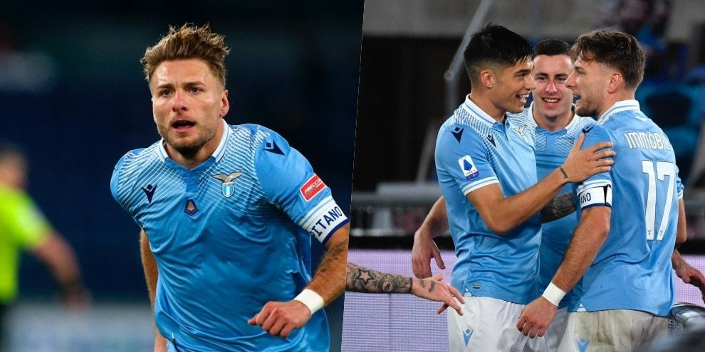 Lazio, festa con Immobile: Cagliari battuto 1-0