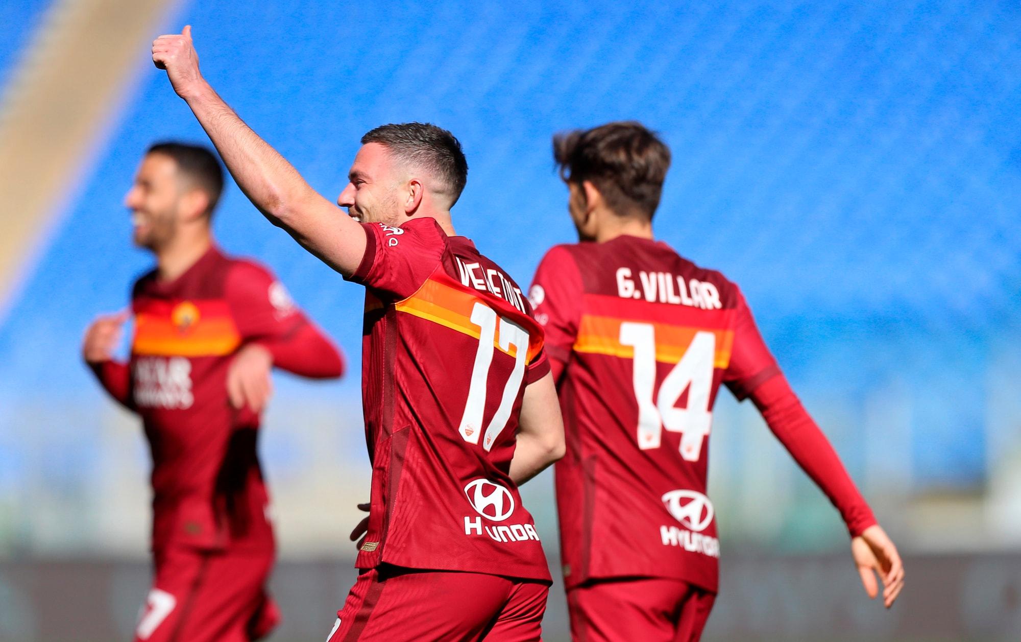 Doppio Veretout e Pedro-gol! Roma terza: 3-0 all'Udinese