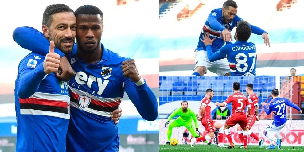 Infinito Quagliarella! Entra e decide Sampdoria-Fiorentina