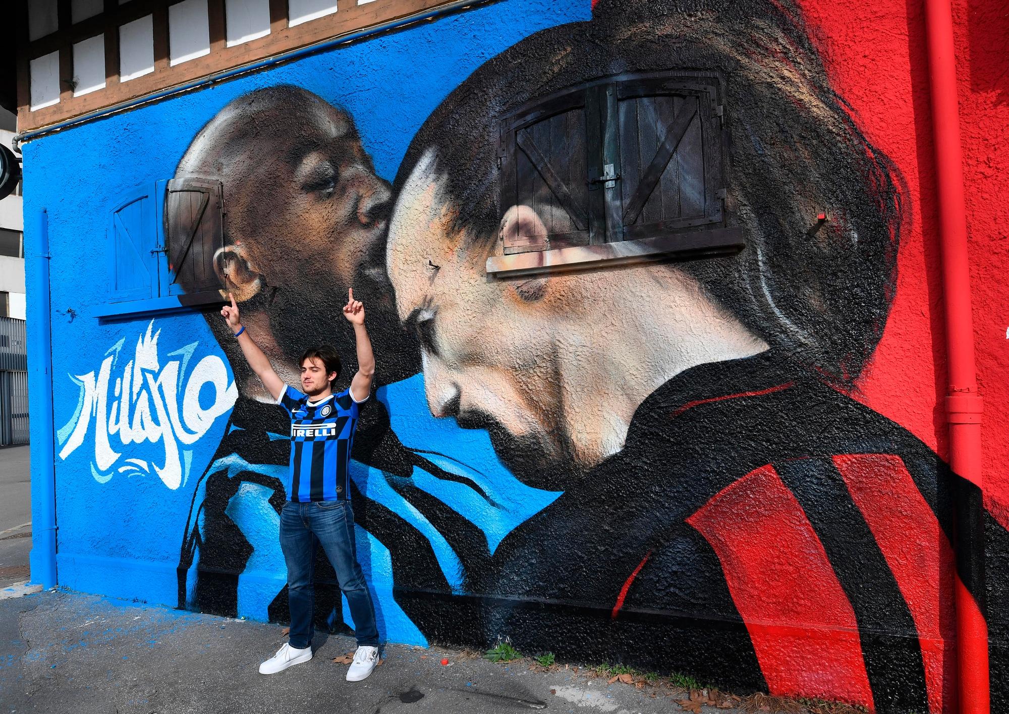 La lite Lukaku-Ibrahimovic diventa un murale