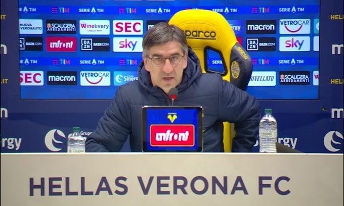 "Juric: ""Salvezza? Mancano 6-7 punti. A Verona si lavora bene"""