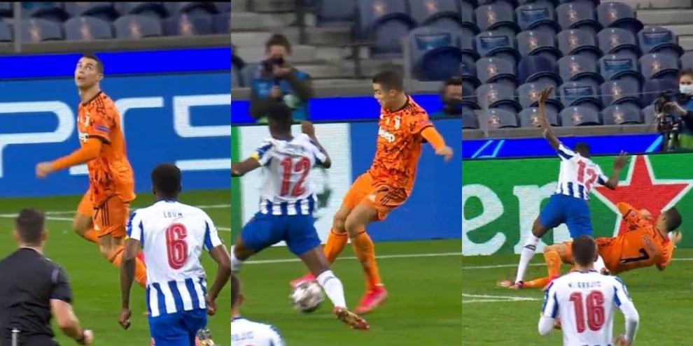 Porto-Juve, il rigore su Ronaldo negato ai bianconeri
