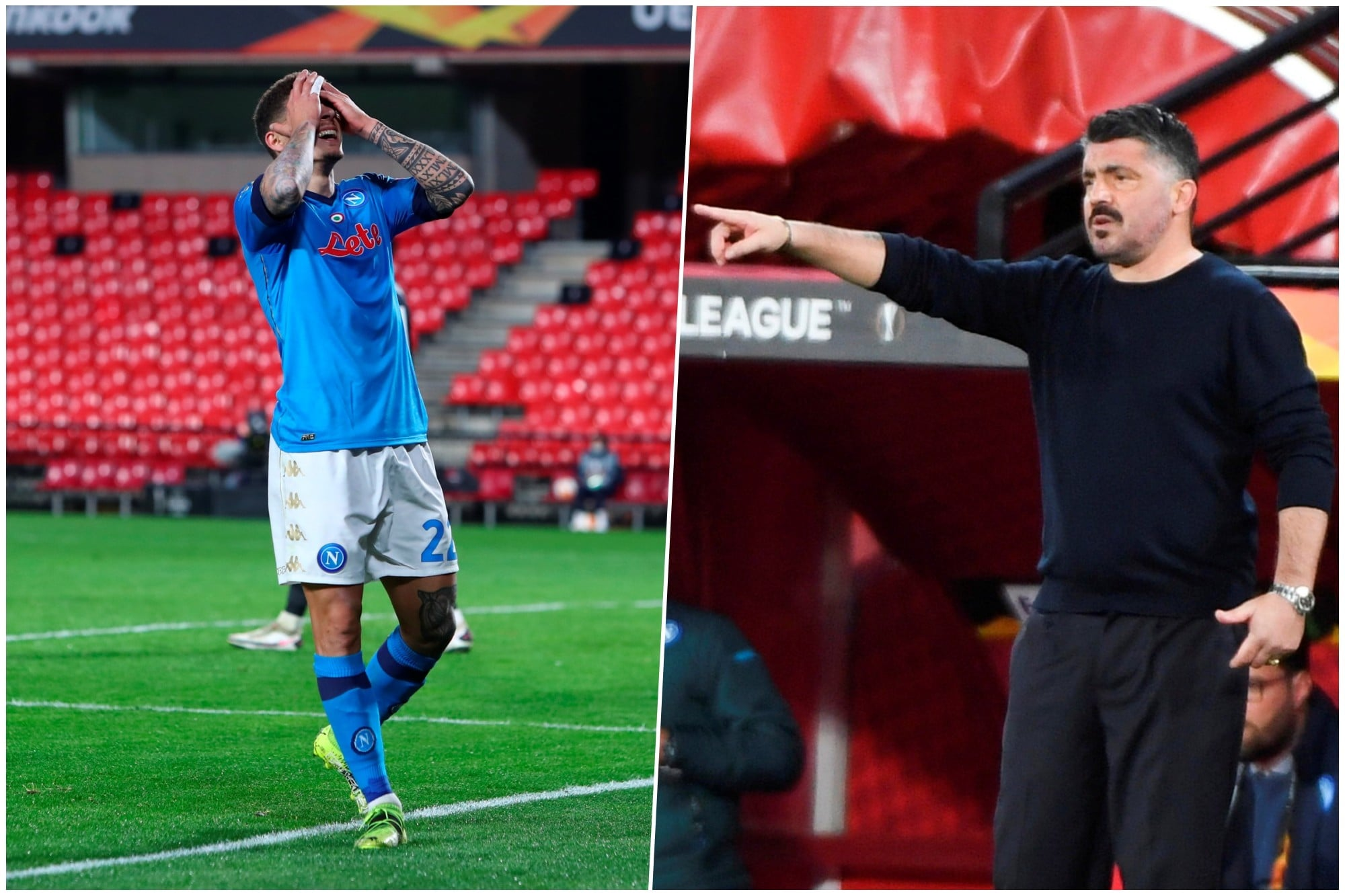 Napoli flop in Europa League: Gattuso ko con il Granada