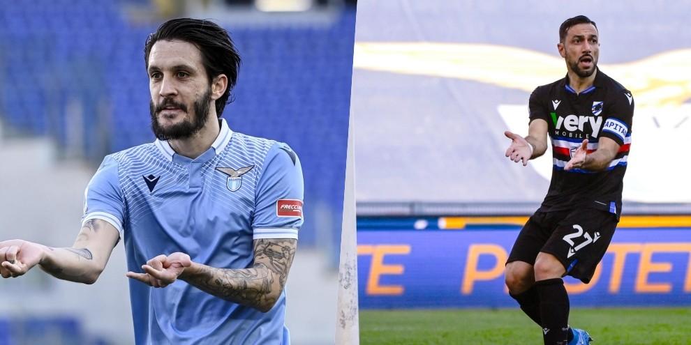Lazio vincente con Luis Alberto: sacrificio Samp, ma non basta