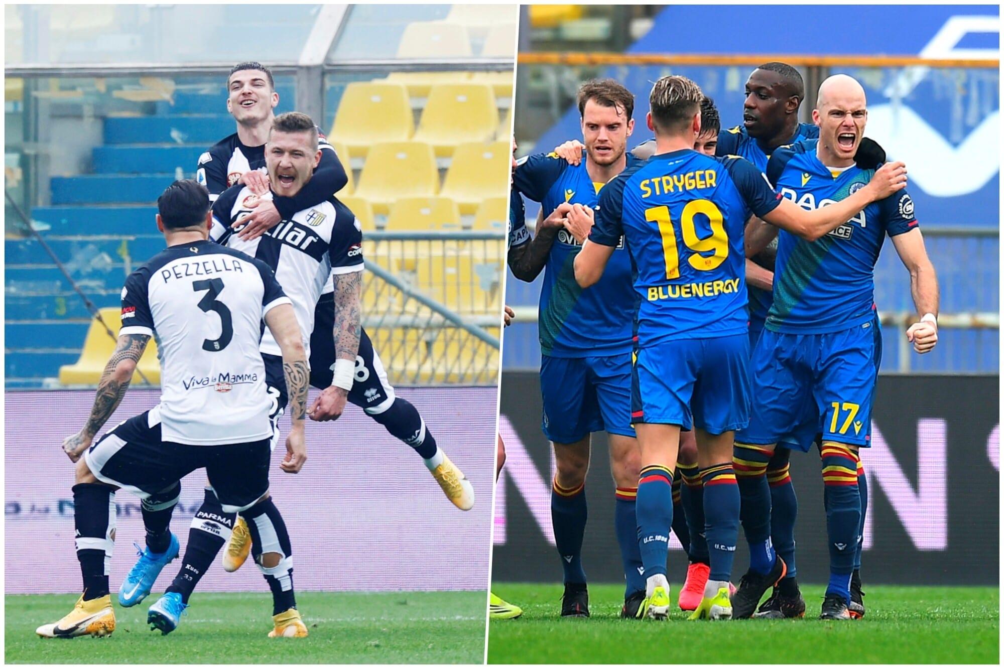 Parma, gioia strozzata: Okaka e Nuytinck salvano l'Udinese