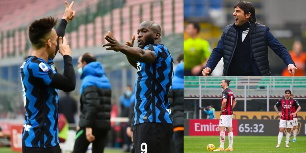 Milan-Inter, Conte show: tris nel derby con Lautaro e Lukaku