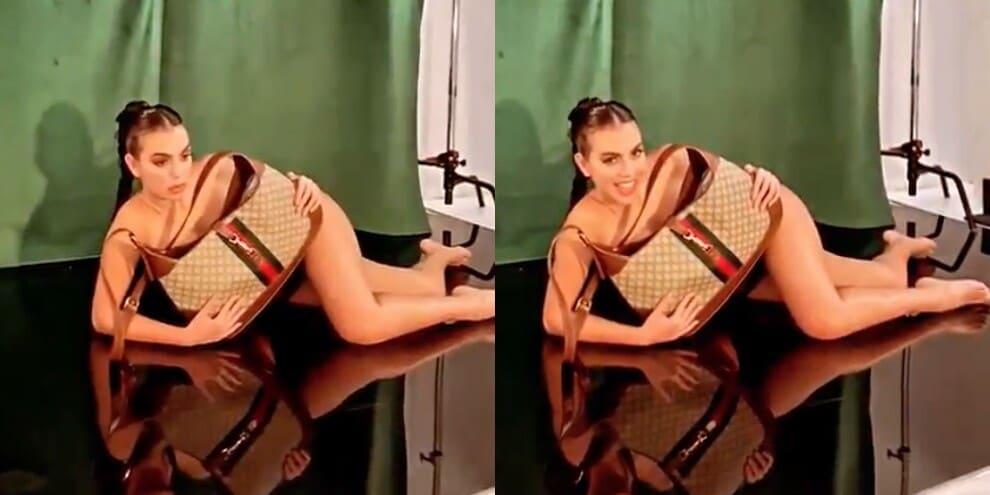 Georgina, il video del backstage infiamma i social