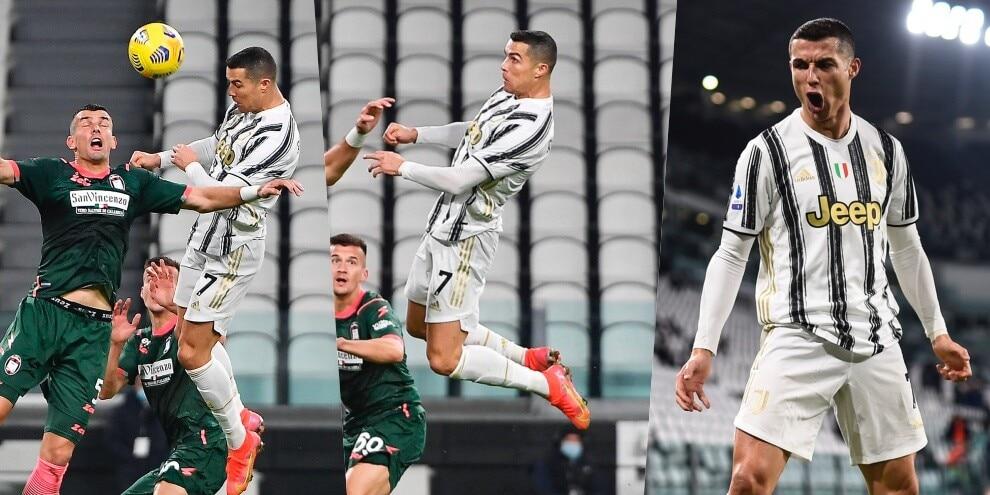 Juve, è tornato Air Ronaldo: che doppietta di testa!