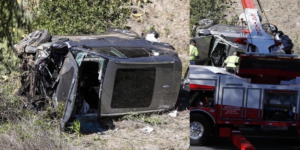 Tiger Woods, terribile incidente in auto: le immagini