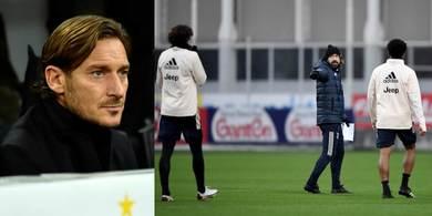 Juve, Totti da Pirlo: il motivo della sua presenza alla Continassa