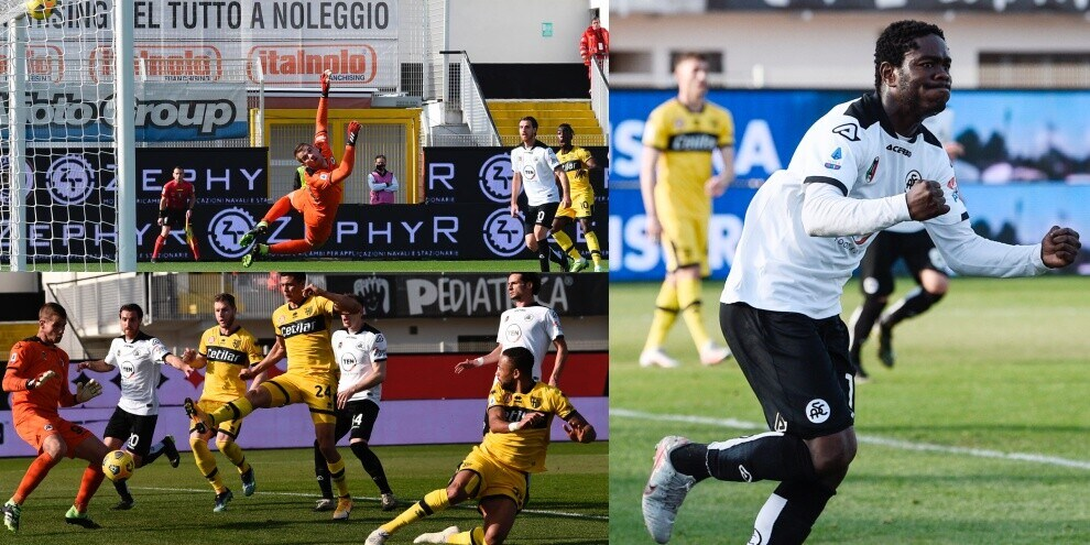 Spezia-Parma, gli eurogol di Karamoh e Hernani annullati da Gyasi