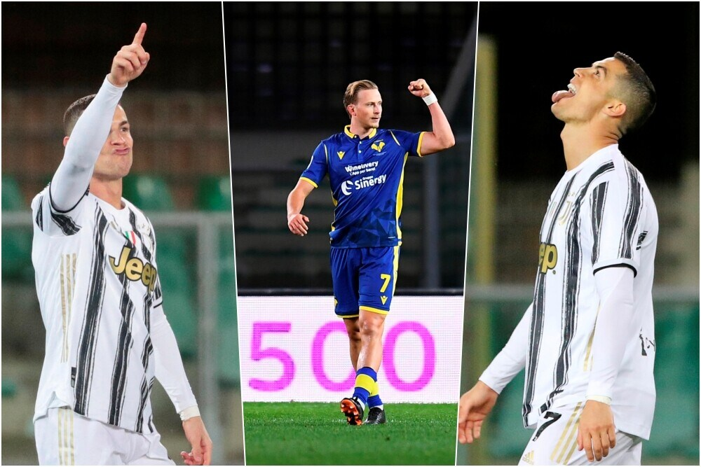 Juve, Ronaldo gol e rimpianto a Verona: risponde Barak
