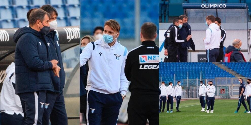 Lazio-Torino, Inzaghi e la squadra in campo senza giocare