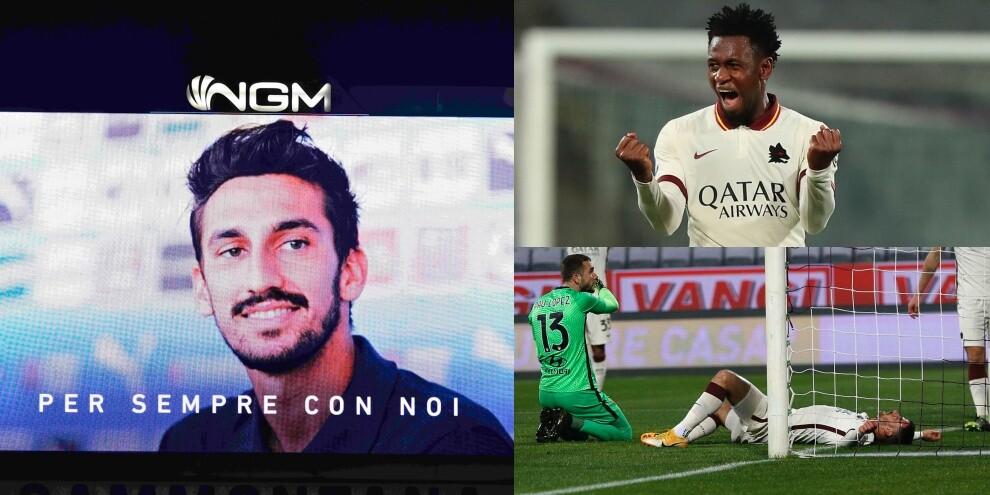 Fiorentina-Roma, brividi per Astori. Diawara cancella l'autogol di Spinazzola