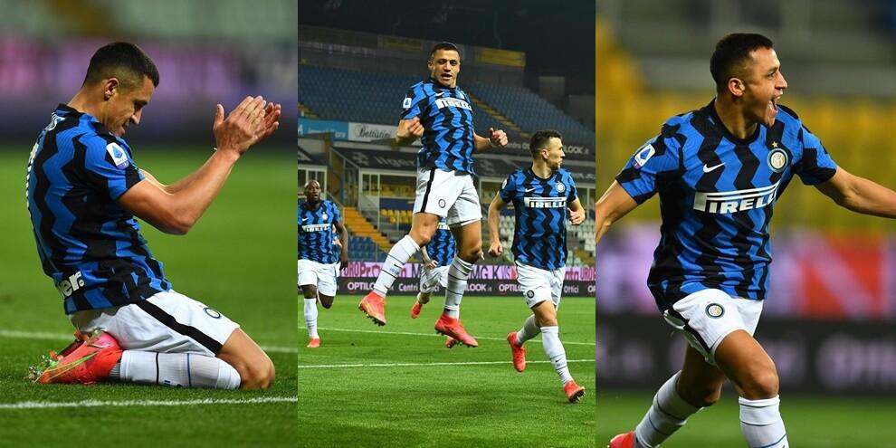 Sanchez stende il Parma con una doppietta: l'Inter scappa
