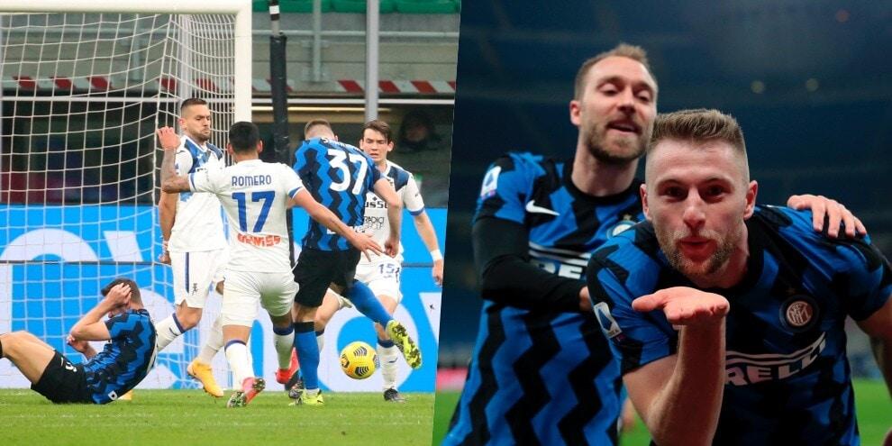 Skriniar da attaccante decide Inter-Atalanta: vola Conte