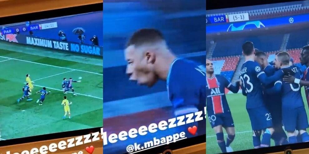 Kean, esultanza pazzesca al gol di Mbappé!
