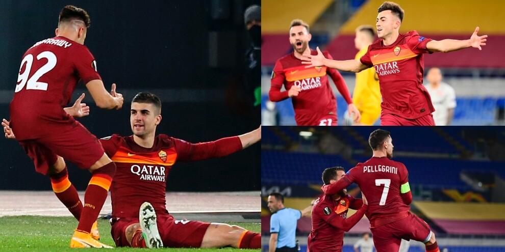 La Roma travolge lo Shakhtar con un tris tutto italiano
