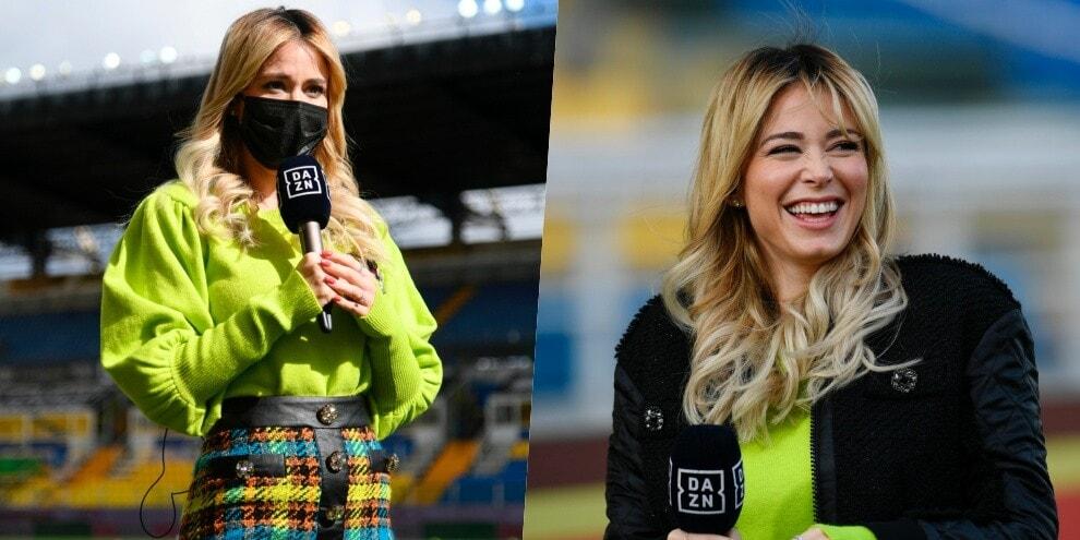 Diletta Leotta sceglie la gonna per Parma-Roma