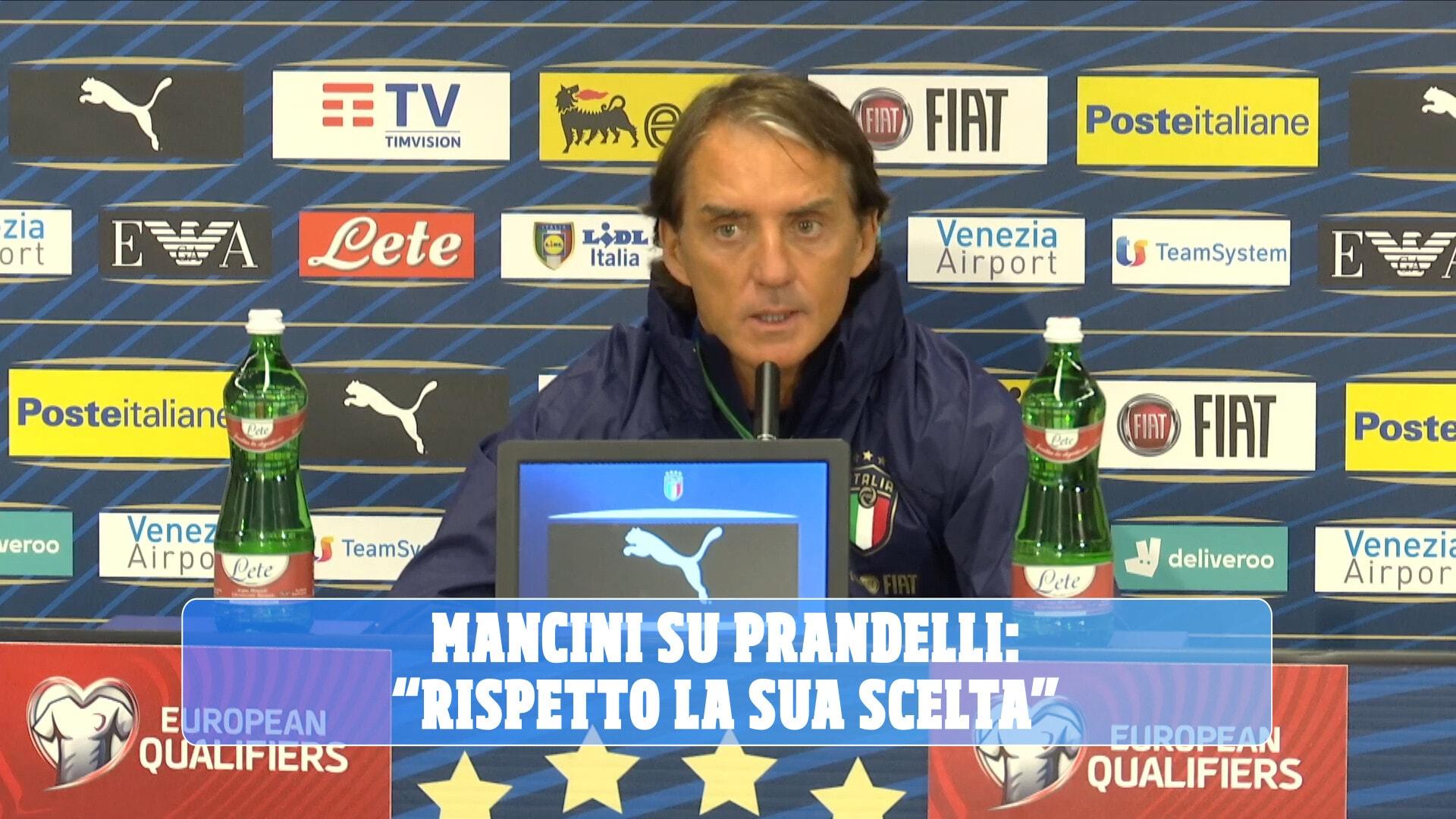 """Mancini su Prandelli: """"Rispetto la sua scelta"""""""