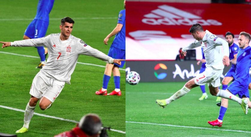 Morata a segno con la Spagna: che gol contro la Grecia