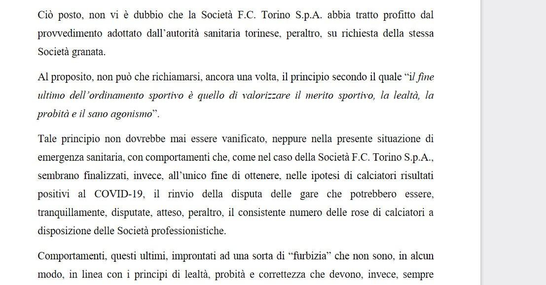 """Verdetto Corte Sportiva d'Appello: """"Lazio-Torino si deve giocare"""""""
