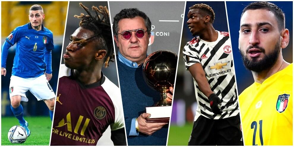 Da Donnarumma a Pogba e Haaland, è la Raiola FC