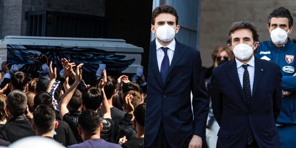 Guerini, commozione e applausi ai funerali del giovane della Lazio