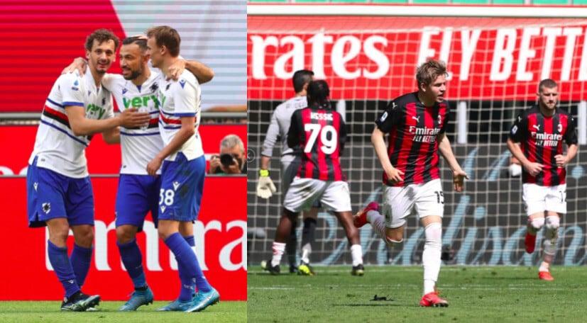 Magia di Quagliarella, pari di Hauge: Milan-Samp finisce 1-1