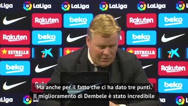 "Koeman: ""Spero Dembele resti al Barça"""