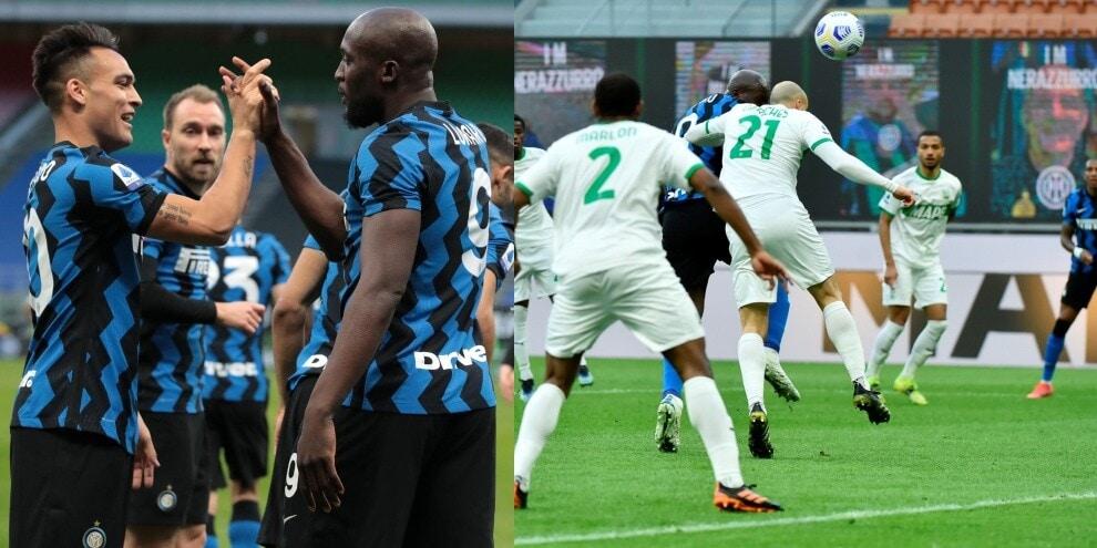 Lukaku trascina l'Inter: gol e assist nel 2-1 al Sassuolo