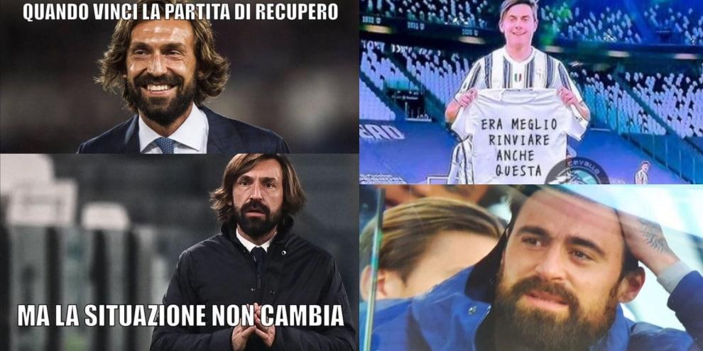 Juve-Napoli, l'ironia corre sui social: Dybala protagonista