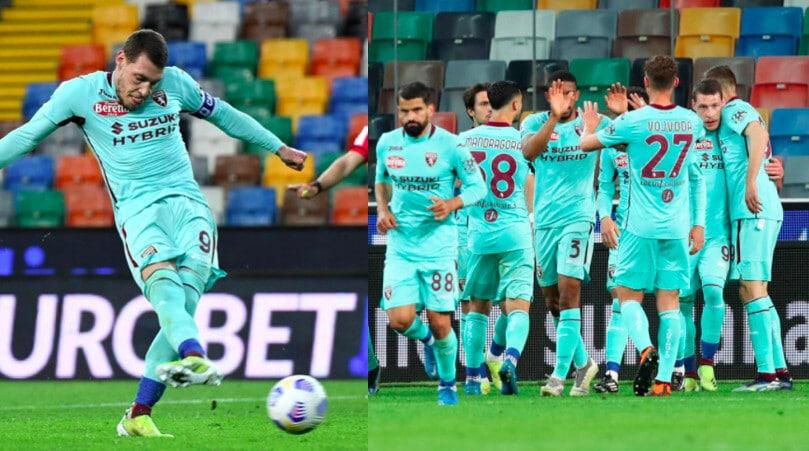 Torino, Belotti torna al gol: vittoria in casa dell'Udinese