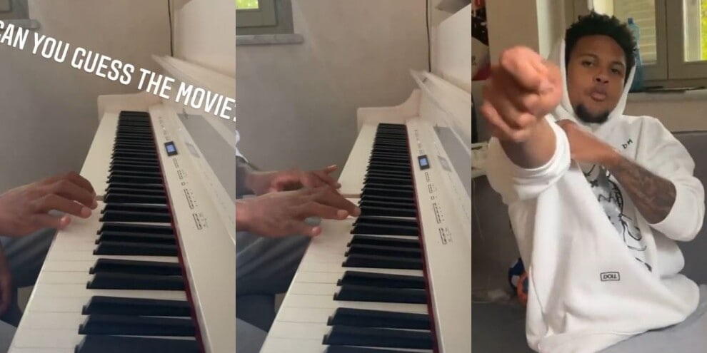 "McKennie, la sfida al piano: ""Indovina il film"""