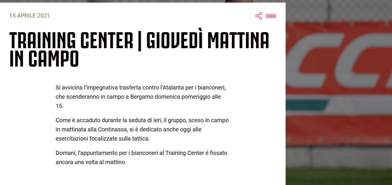Juventus, seduta tattica per la squadra in vista dell'Atalanta