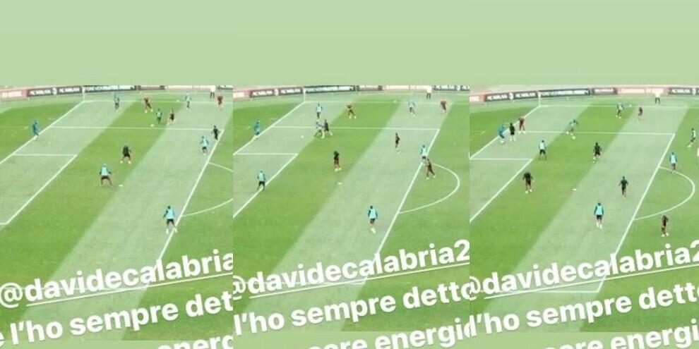 """Donnarumma """"umilia"""" Calabria durante la partitella"""