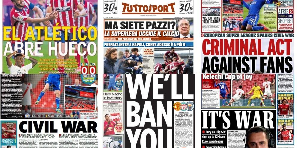 Superlega, ecco le prime pagine dei quotidiani europei