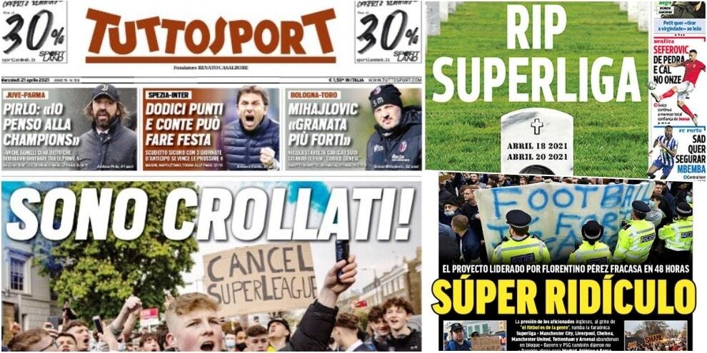 """Superlega, l'addio sulle prime pagine: """"Sono crollati"""""""