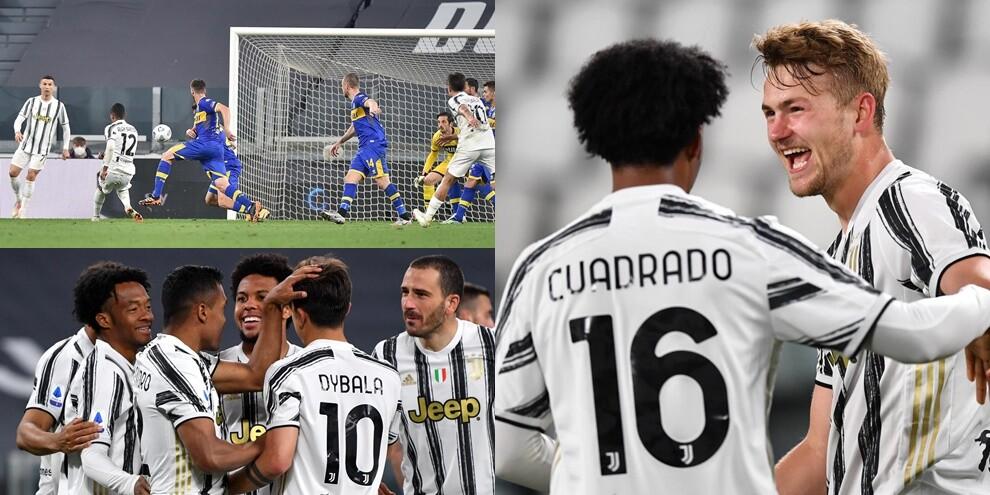 Doppietta show di Alex Sandro e De Ligt: la Juve rimonta il Parma