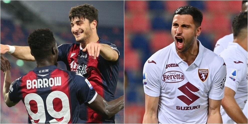 Mandragora risponde a Barrow: Bologna-Torino termina in pareggio